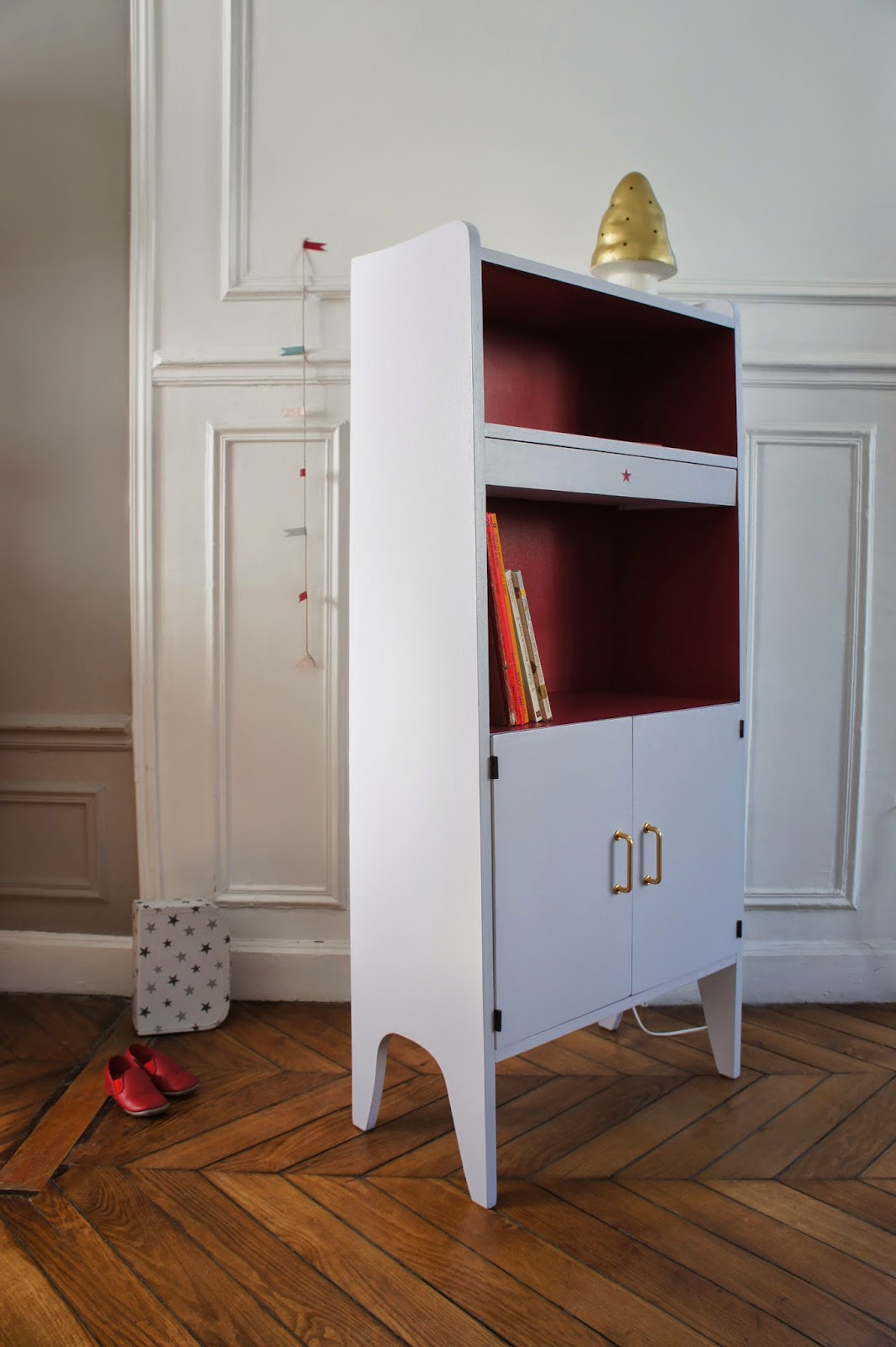 atelier petit toit biblioth ques vintage revisit es sur commande mars 14. Black Bedroom Furniture Sets. Home Design Ideas