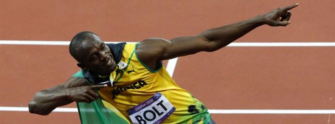 Usain Bolt Champion du 100m lors des JO de Londres 2012