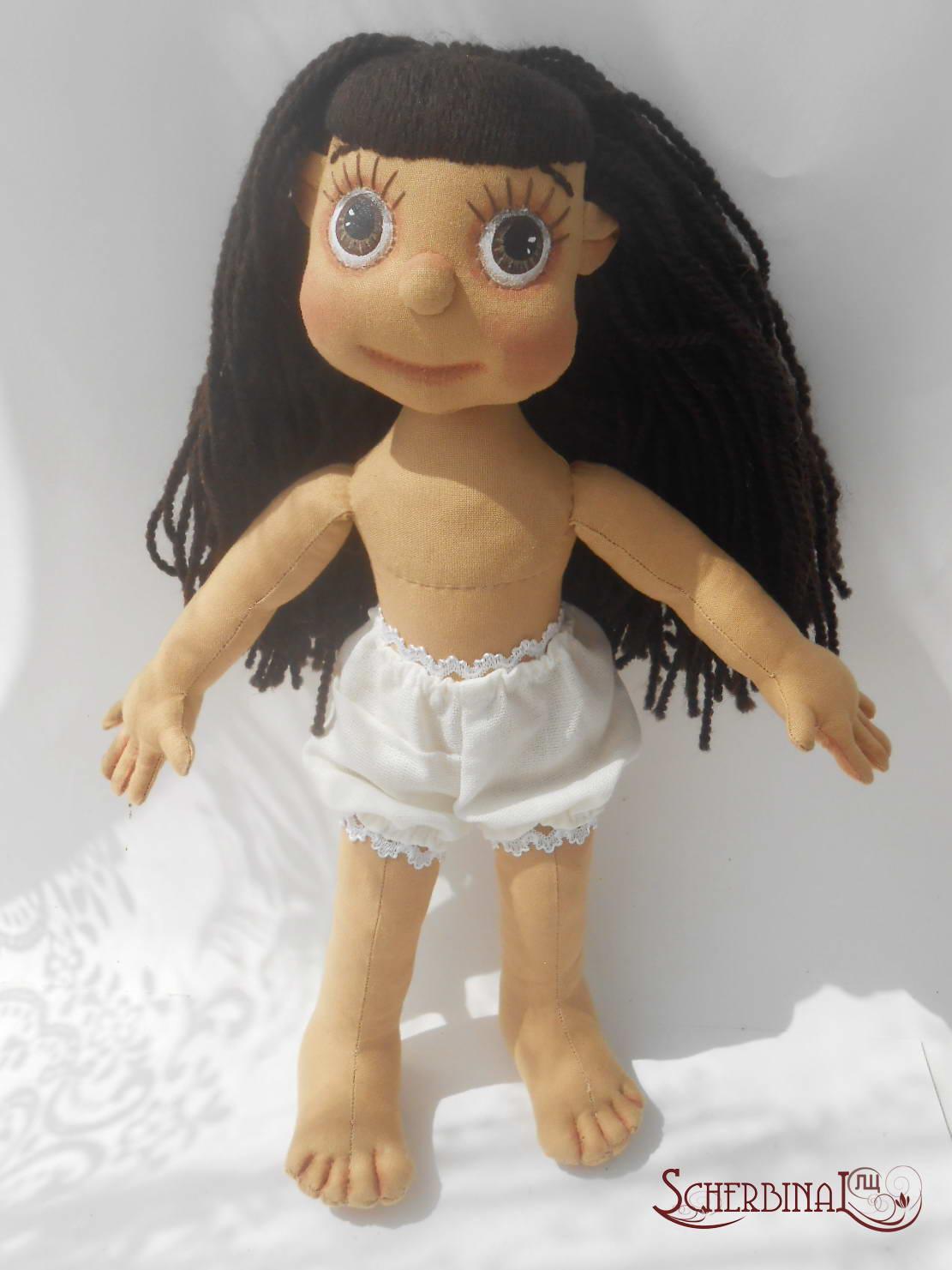 волосы для текстильной куклы, мастер-класс