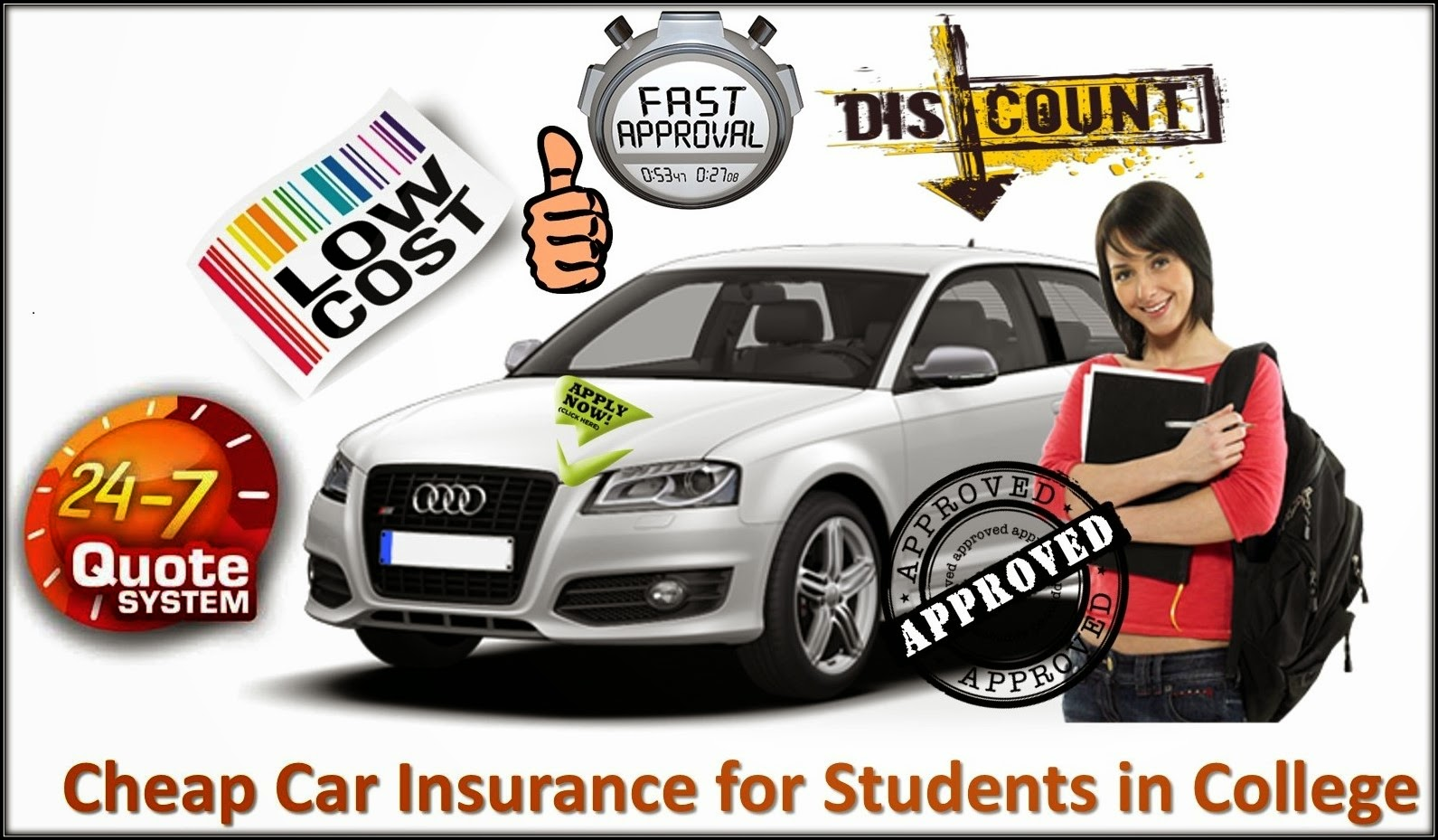Apply for Cheap Car insurance for Syudents in College.