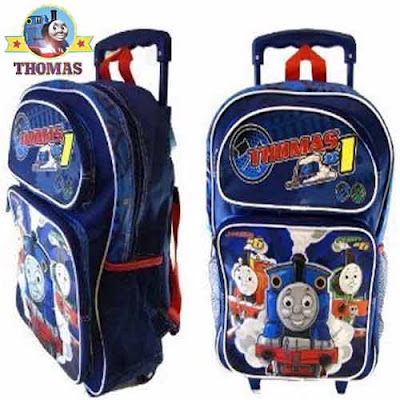 Kids Thomas the Train Rolling Backpack Thomas Wheeled Backpack fit under holiday airline travel seat
