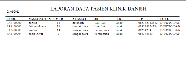 source kode program klinik lengkap