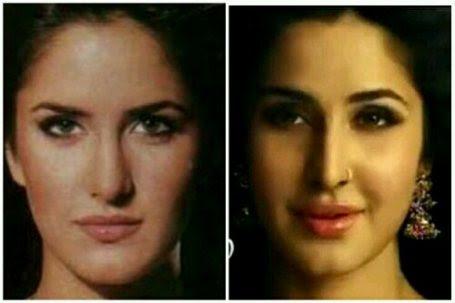 Katrina Kaif Before And After Nose Chatter Busy: Katrina ...
