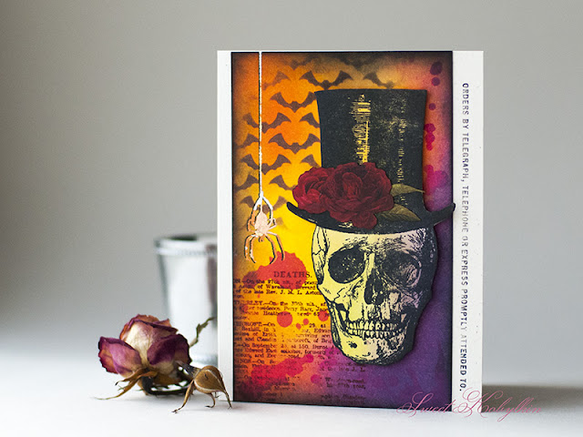 Halloween Card with Undertaker from Tim Holtz by Sweet Kobylkin