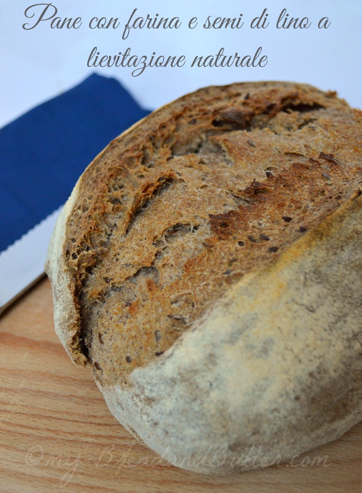 Bread with linseeds and linseeds flour