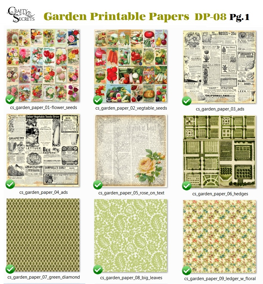 Crafty secrets heartwarming vintage ideas and tips father for Landscape design paper