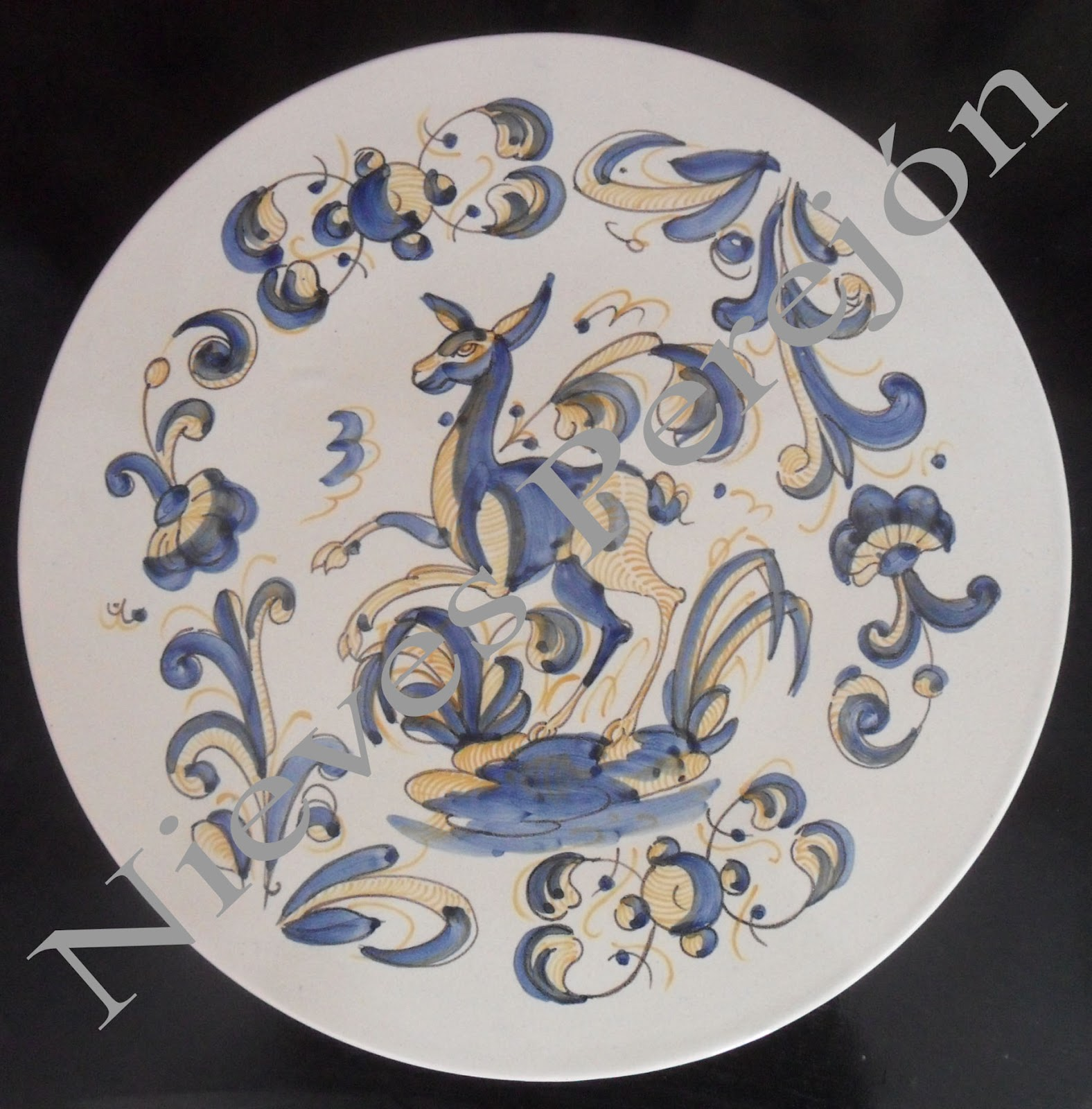 Nieves perej n platos cer mica - Platos de ceramica ...