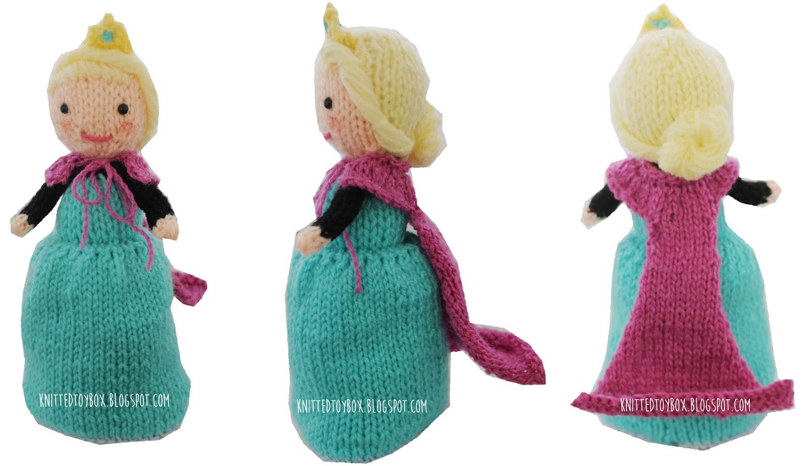 Knitted Toy Box: Elsa Frozen Flip Doll