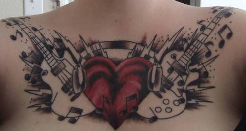There are two general types of guitars thus tattoos depict one or the other