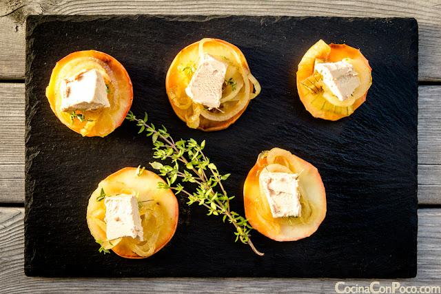 Recetas Navidad - Entrante de foie con manzana y cebolla caramelizada