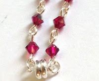 Magnet clasp on a crystal link bracelet