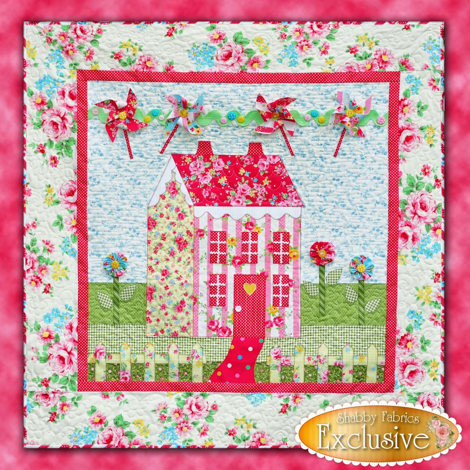 Little Garden House in Spring | Shabby Fabrics Exclusive