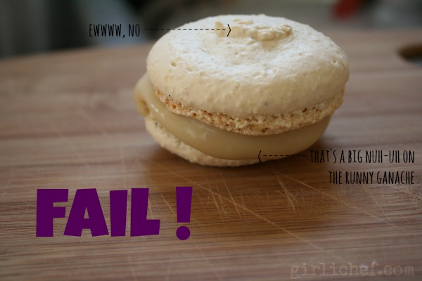 Making Macarons: FAIL! | www.girlichef.com