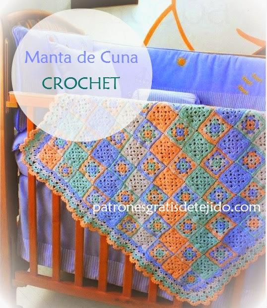 Patrones de Manta Crochet para Cuna - Paso a Paso con Video ...