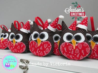 Sew_It_Yourself_Fabric_Kit_Christmas_Owls