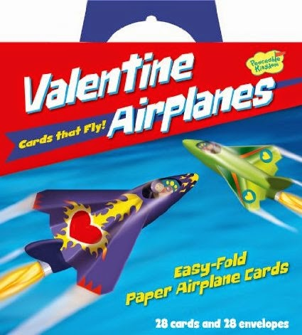 Peaceable Kingdom - Flying Paper Airplanes Super Valentine Card Pack