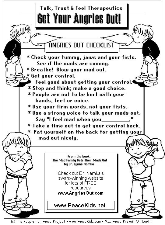 anger management activities for preschoolers managing anger teenagers worksheets for children 608