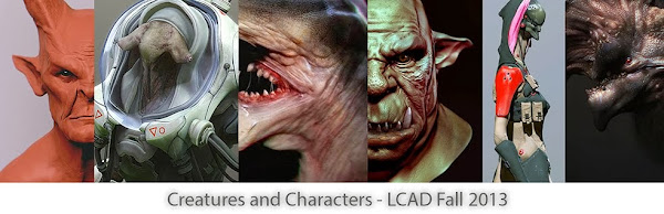 Creatures and Characters - LCAD Fall 2013
