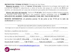 Boletín de Inscripción Campus