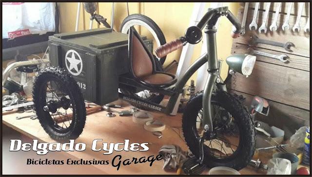 Triciclo Kustom Militar aseinto regulable.