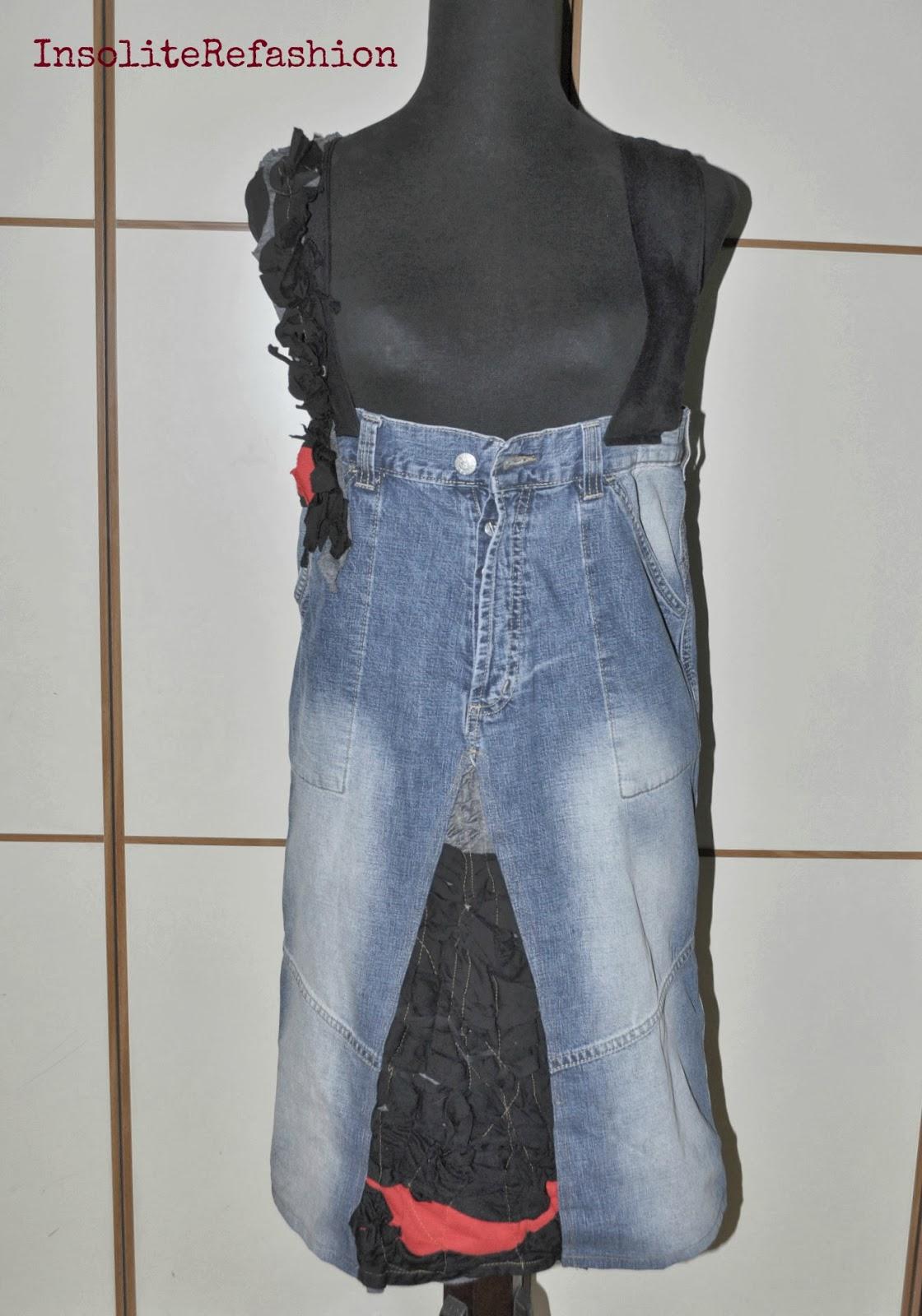 Idee e tutorial per riciclare vecchi jeans- Riciclo jeans ...
