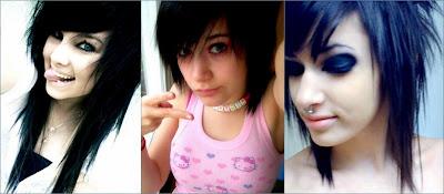 Gaya-gaya rambut emo perempuan