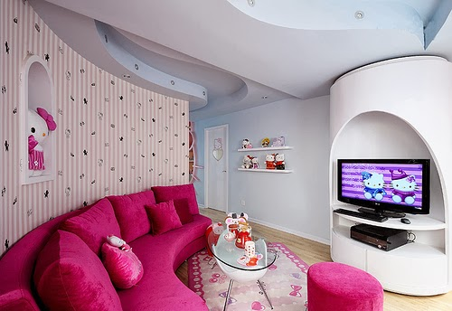 Decorating Living Rooms Inspired By Hello Kitty