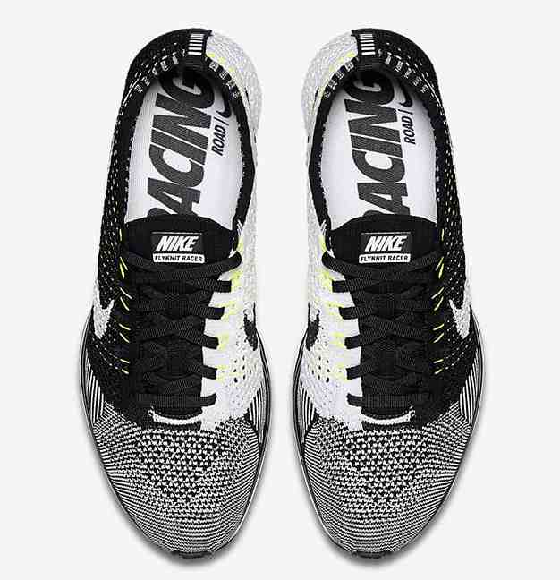"Nike release the Flyknit Racer ""Black White"" rendition Friday December 18.  The pair is closely designed to a 2013 first model in black and white  knitting ... c085e44849"