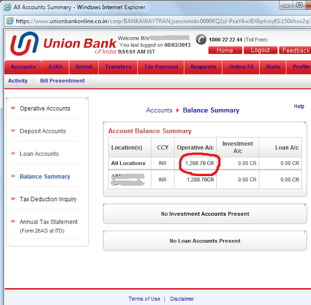 Online City Union Bank Net Banking
