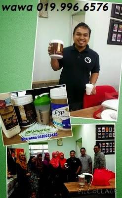 Saiful Nang Minum Cinch Shake Shaklee