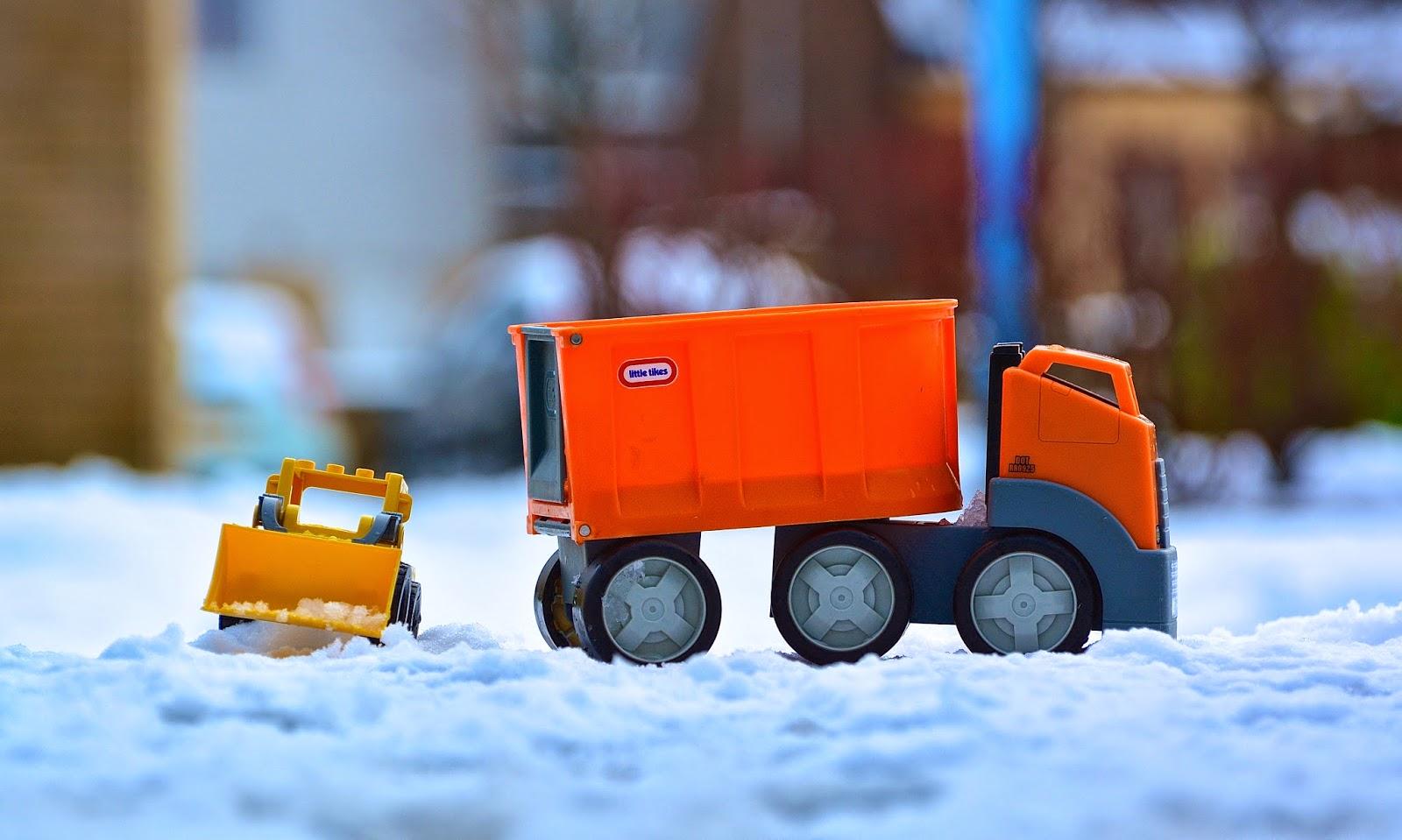 Trucks in the snow