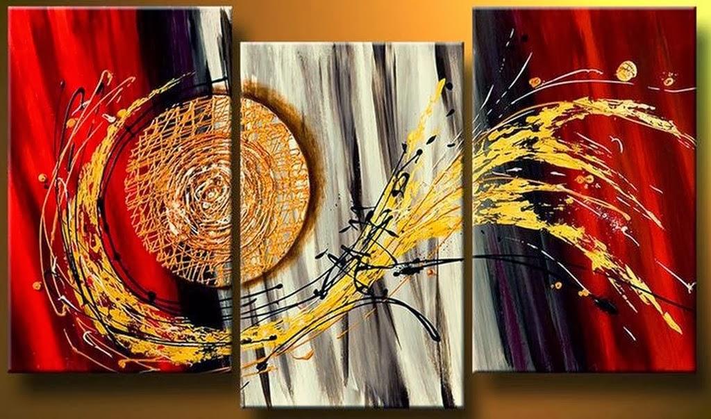 Cuadros modernos pinturas y dibujos 30 cuadros tr pticos for Cuadros decorativos clasicos