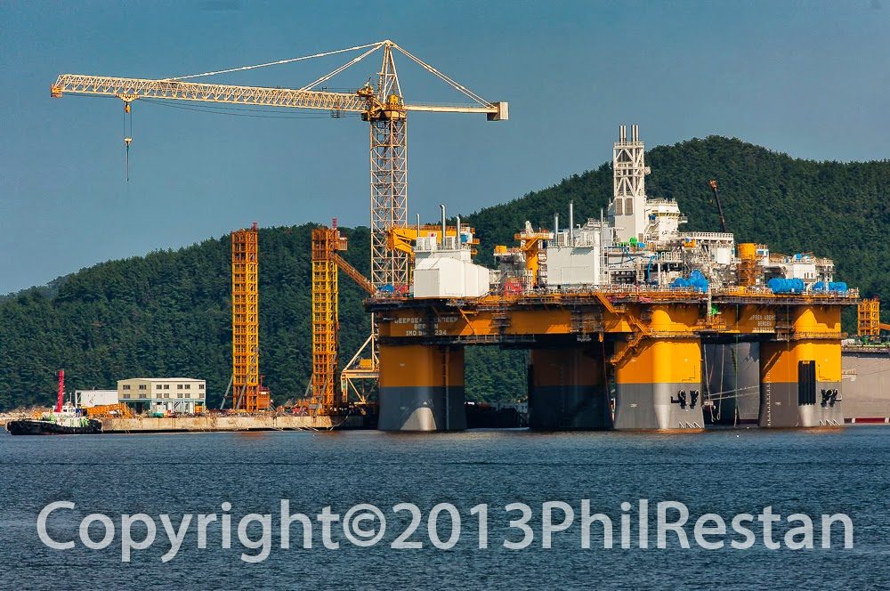 Image of the The Deepsea Aberdeen under construction in the Daewoo Shipbuilding & Marine Engineering's yard in South Korea