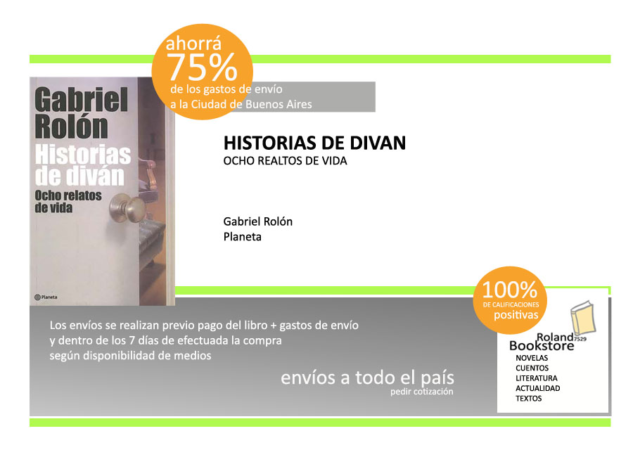Roland7529 bookstore 011 4716 0428 historias del for Historias de divan sinopsis