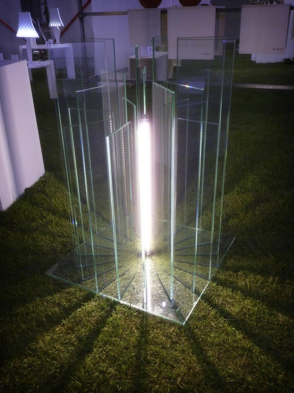 Lampada plexiglas led fibre ottiche neon