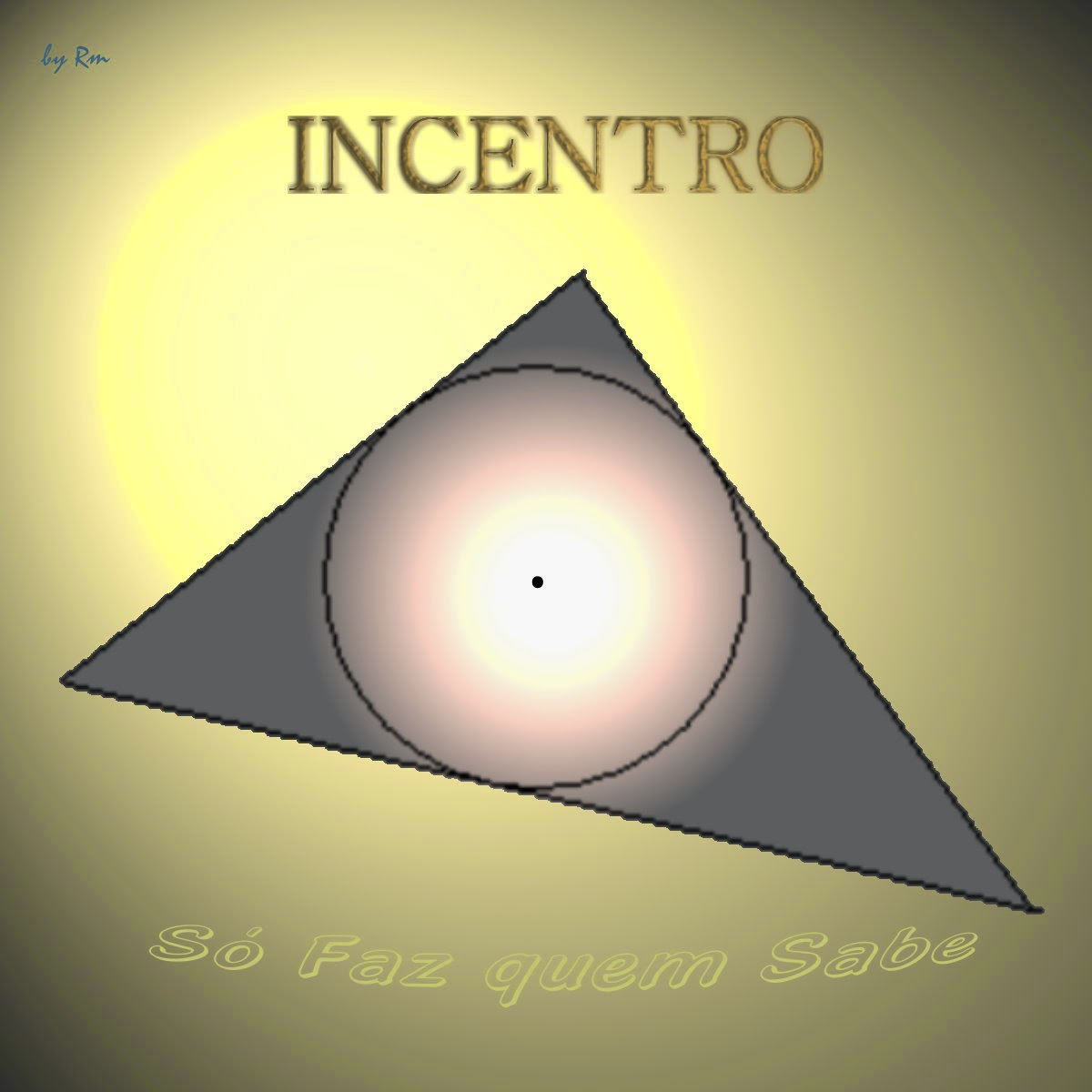 A intersecção das três bissetrizes de um triângulo´é um ponto chamado Incentro, centro da circunferência inscrita no triângulo.