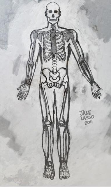 Estudio del esqueleto , escala de grises