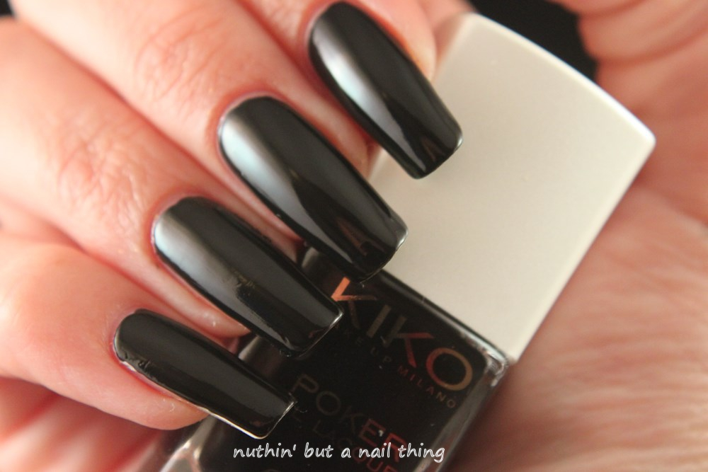 Kiko Poker Nail Lacquer - Slick Bluenoir