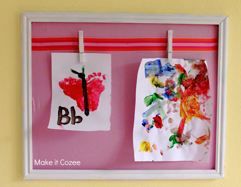 Make it Cozee: DIY Frame for Hanging Kid Art