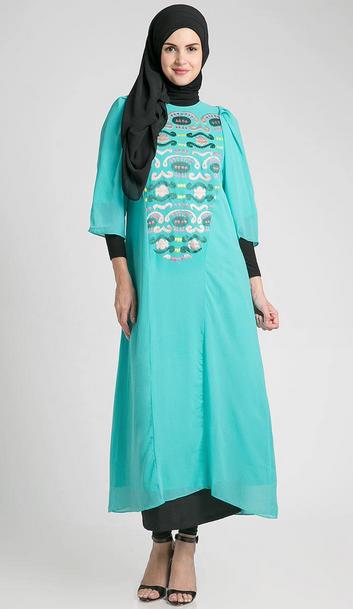 gambar model baju hamil muslim trendy 2015 foto baju muslim trendy ...