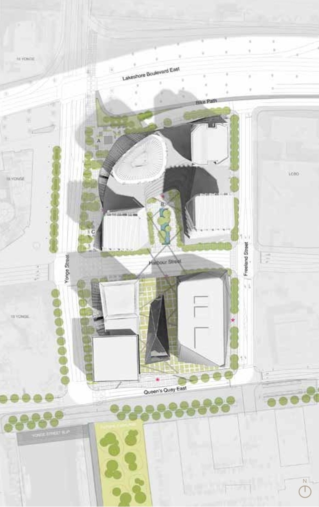 Site plan with new skyscrapers
