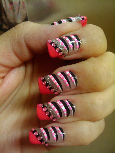 Nail art quality awesome nail arts animal design zebra airbrush stylish nail art colors prinsesfo Images