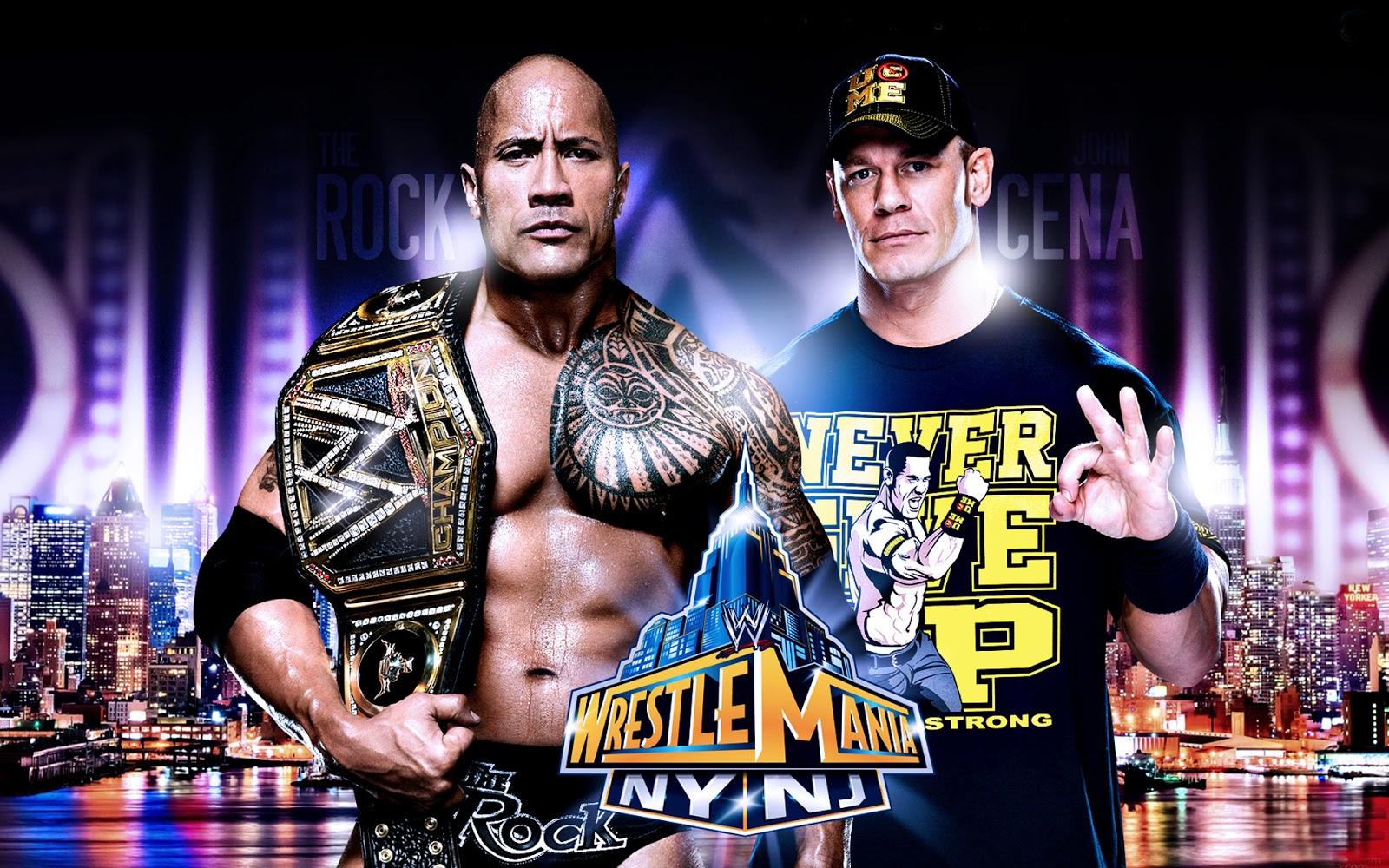 John Cena Wallpapers Vs The Rock WrestleMania