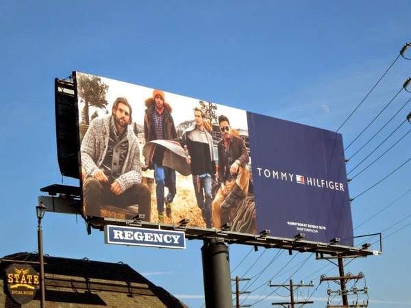 Tommy Hilfiger FW 2014 male model billboard