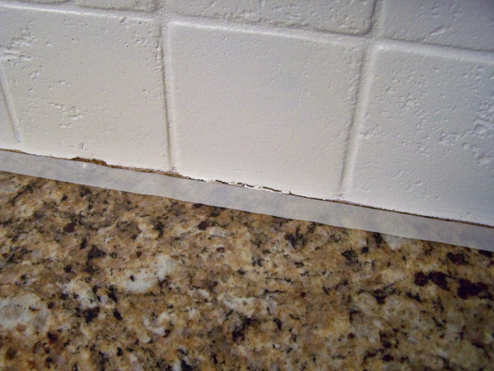 Older and wisor painting a tile backsplash and more easy for Can you paint granite countertops