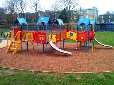 New play equipment in Slade Gardens, SW9