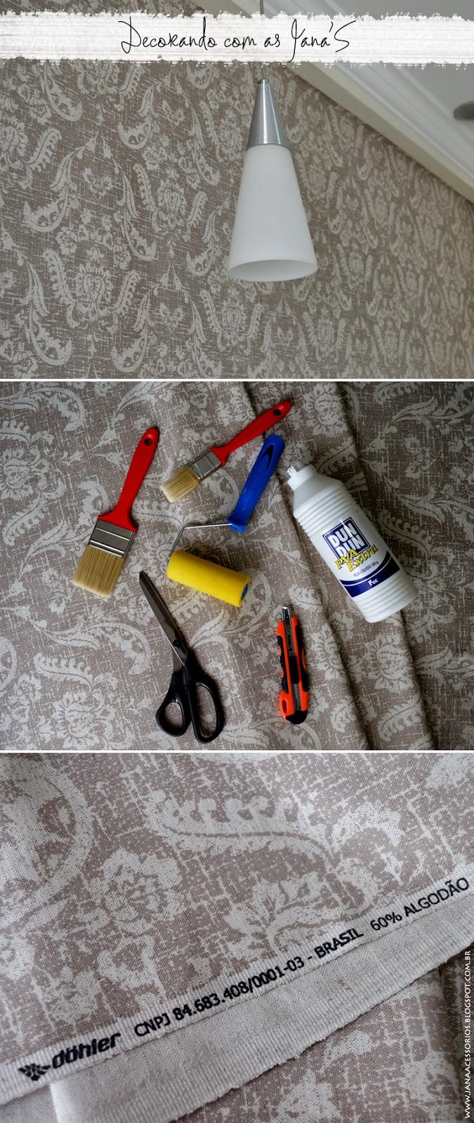joinville, blog de decoração, decoração, jana, blog da jana, tecido na parede, inspiração, Decorando com as Jana'S