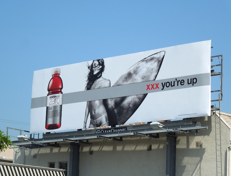Vitamin Water xxx surfer billboard
