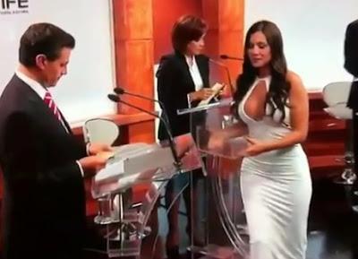 sexy modelo en el debate presidencial en mexico