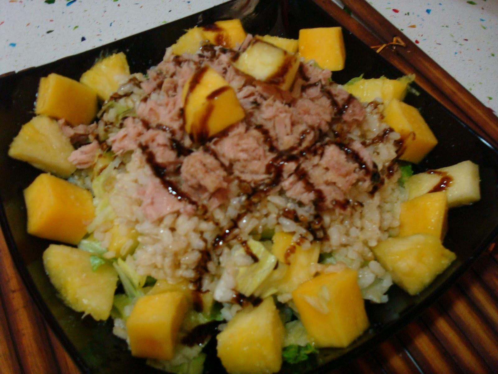 La cocina de gema y eva ensalada de arroz con pi a y mango for Cocinar con mango